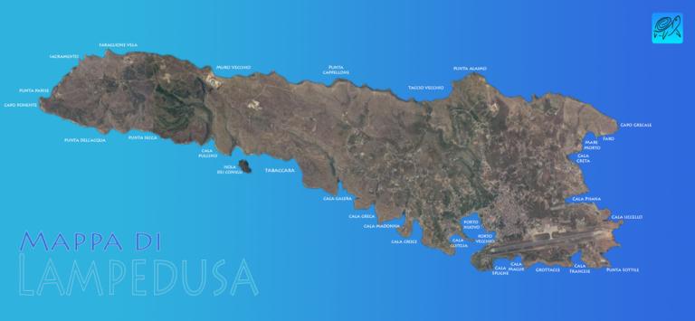 Lampedusa Sulla Cartina Geografica.Lampedusa Spiagge E Cale Lampedusa Pelagie Info Turistiche